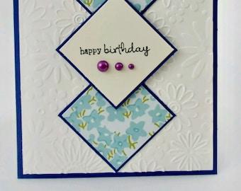 Birthday Card // Happy Birthday // For her // Handmade