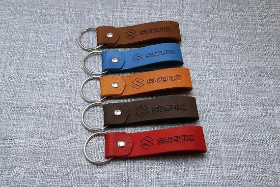 Suzuki leather motocicleta Llavero llavero Schl-sselanh-nger porte-clés portachiavi Regalo, llavero,portachaves, elija su nombre