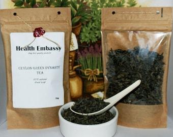 Ceylon Green Dynasty Tea / 75g / Health Embassy / Organic