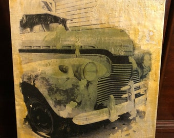 "Mixed Media Collage ""1941 Chevy"""