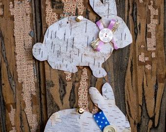 Birch Tree Bunny Tags/Decor