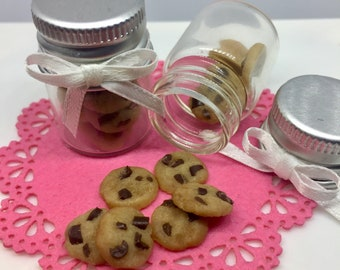 Dollhouse Miniature size modern Chocolate Chip Cookie Box