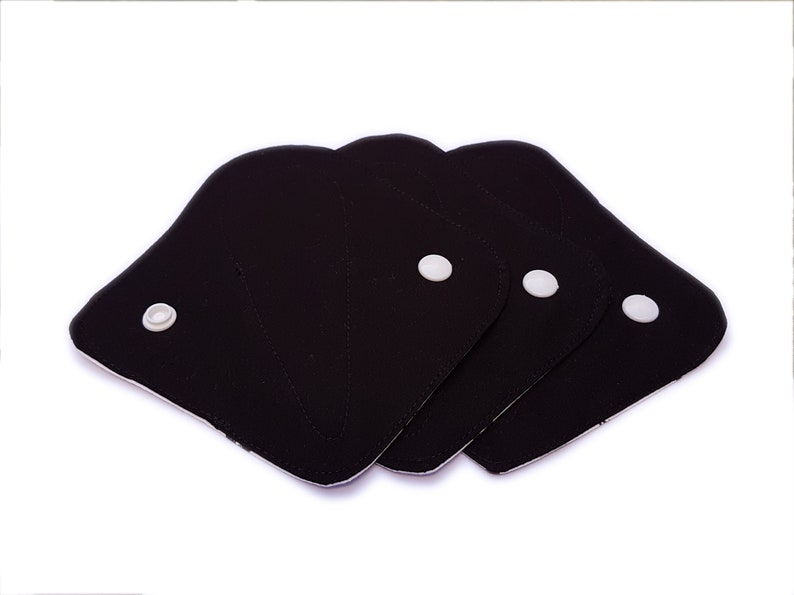 Tampon Cup Backup Black on Stars 3 Pack ORGANIC Thong Pantyliners Extra-Thin