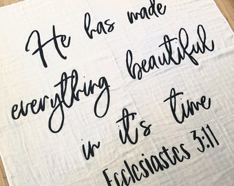 Bible Verse Swaddle Etsy