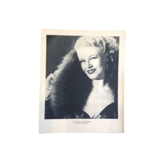Vintage Original Fred Astaire Ginger Rogers Movie Photo Rl 135 Etsy