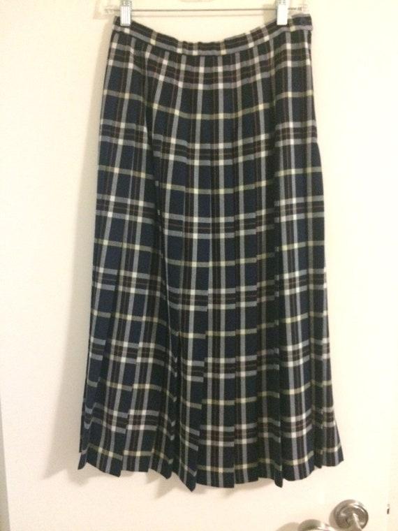 Pendleton Wool Pleated Skirt