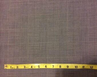 Gray Glen Plaid 100% Wool Fabric (1)