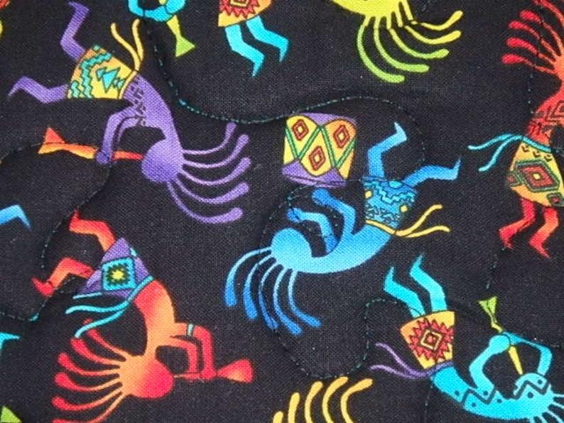 Kokopelli Hot Pads Southwest Pot Holders 2 Kokopelli Pot holders Kokopelli Pot holders Gift Quilted Kokopelli Hot pads Southwest Gift