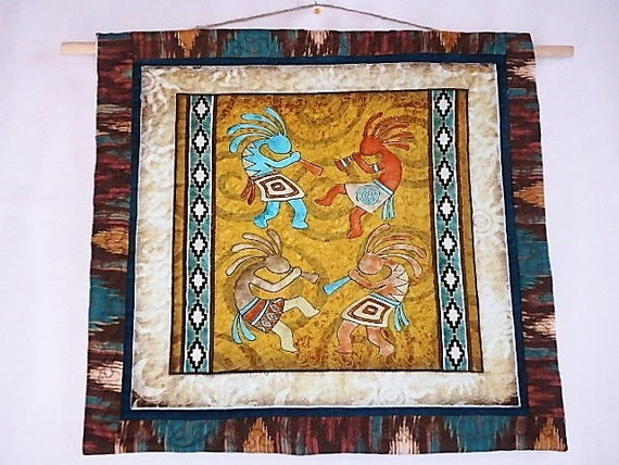 Quilted Kokopelli Wall Art Southwest Quilted Wall Art Etsy
