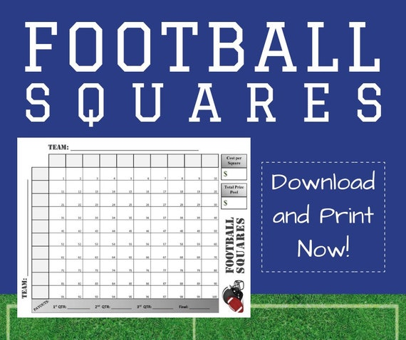 photo relating to Printable Football Squares Sheet titled Soccer Squares Printable