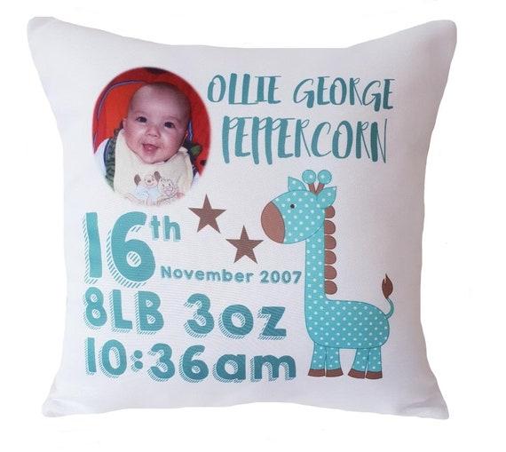 Personalised Boys Photo Cushion