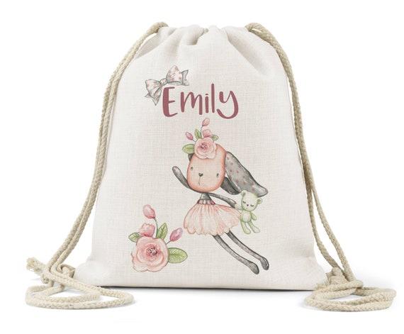Girls Pink Unicorn Drawstring Bag Shoe Books PE Gym New No Tags