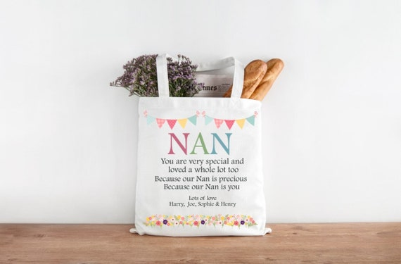 AUNTIE NAN GRANDMA NANNY MUM tote bag fabulous belongs to personalised shopping