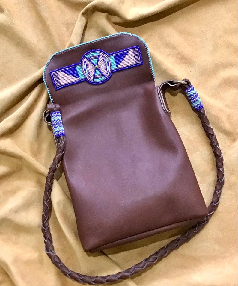 Beaded Leather Handbag