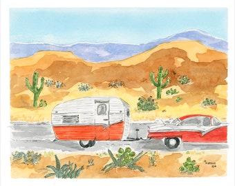 Retro Travel Trailer Print