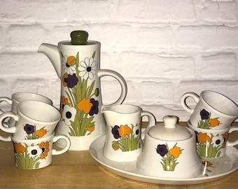 Royal Tudor Ware Springtime Ironstone Tea/Coffee set 1960's