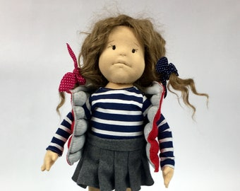 """Waldorf Doll """"Maggie"""", 19 inch, natural hair,  hand made and ready to sale!"""