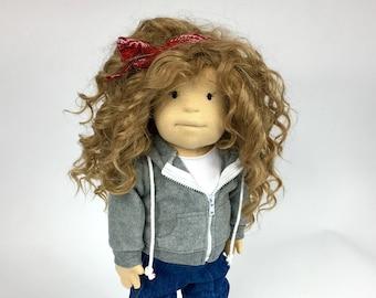 "Waldorf doll ""Sue"", 19 ich, hand made, ready to sale, organic doll."