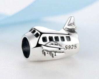 Travel Airplane Charm 100% 925 Sterling Silver Pandora