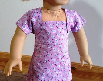Fun Sundress with Shrug that fits the American Girl and Similar 18 Inch Dolls