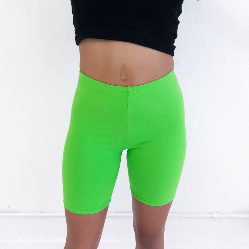 Cute on you Lime Green Biker Shorts For your Wardrobe