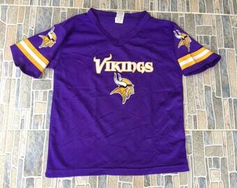 bb630f6be11 Minnesota vikings Vintage Football NFL Woman's Jerseys Cheerleader Shirt  Small Size
