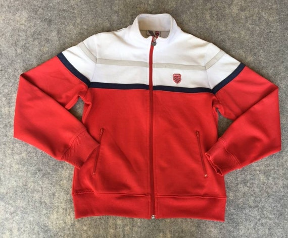 Vintage K-SWISS Jacket Red/White Tennis