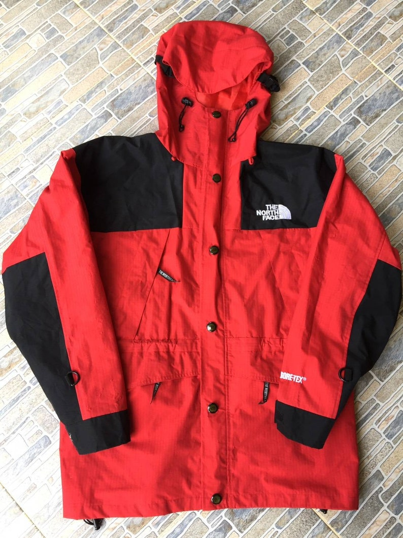 580a3701d Rare Vintage The North Face Gore-tex Jacket Hoodie Red/Black