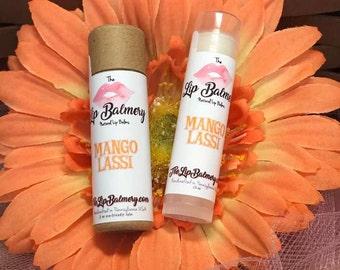Mango Lassi Natural Lip Balm - Eco-Friendly Push Up Tube or Regular Twist Up Tube