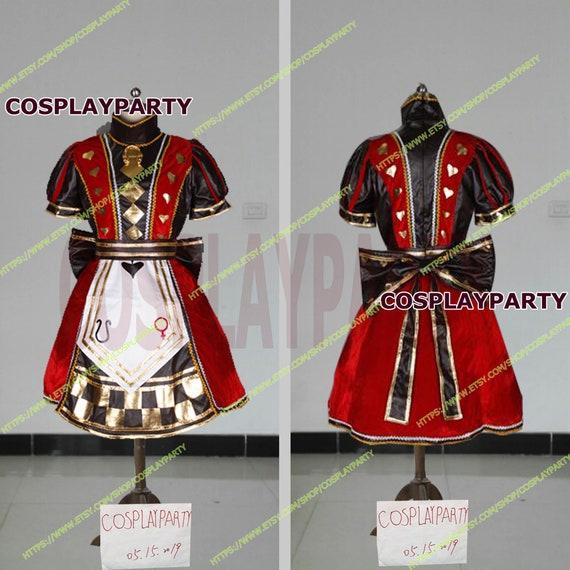 3518e924fbc40 Handmade Size Alice Madness Returns Royal Cosplay Costume