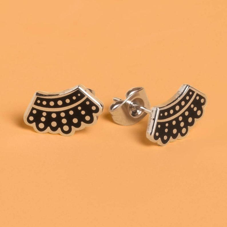 26cd8811e Ruth Bader Ginsburg's Dissent Collar Earrings | Etsy