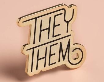 Pronoun Pin - They/Them