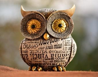 Owl Figurine Etsy
