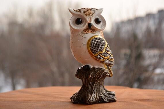 Black and White Owl Figurine,Owl Home Decor, Owl Figurine,Owl Decor,Golden Owl Figurine,White and Black Owl Figurine,Owl Gift,Owl Statue