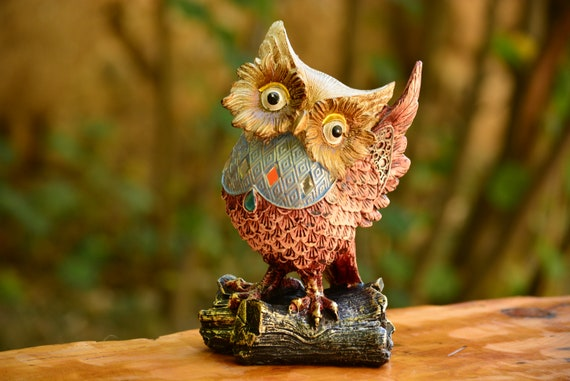 The Brave Owl Figurine,Braveheart Owl Figurine,Owl Decor,Braveheart Owl Statue,Owl Home Decor,Xmas Decor,Shiny Owl Decor,Housewarming Gift