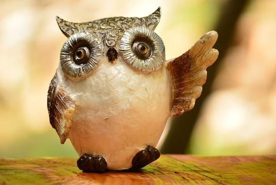 Shiny Owl Figurine,Owl Gift,Owl Decor,Housewarming,Owl Decoration,Owl Table Decor,Housewarming Gift,Christmas Decor,Christmas Gift,Shiny Owl