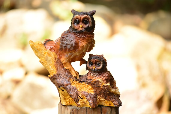 Owl Decor,Housewarming Gift,Owl Figurine,Owl Home Decor,Owl Statuette,Housewarming,Owl Gift,Brown Owl Figurine,Owl Decoration,Christmas Gift