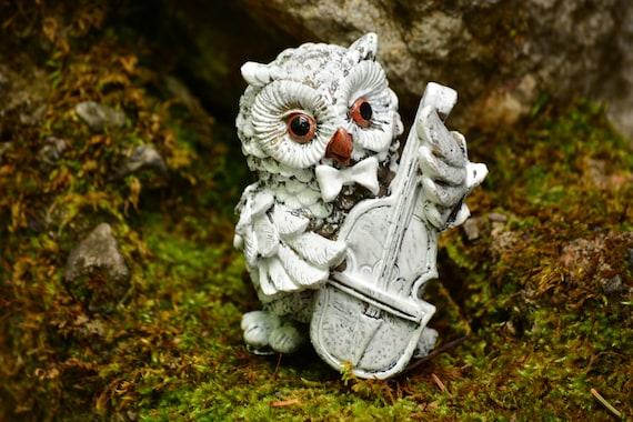 Shabby Chic Owl Figurine,Owl Statue,Shabby Chic Owl,Owl Figurine,Shabby Chic Decor,Vintage Owl,Owl Home Decor,Owl Gift,Lovely Owl Statue