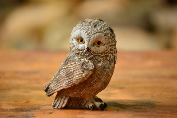 Owl Decor,Owl Figurine,Small Owl Statuette,Owl Home Decor,Shabby Chic Owl Figurine,Owl Gift,Owl Decoration,Small Owl Figurine,Cute Owl gift