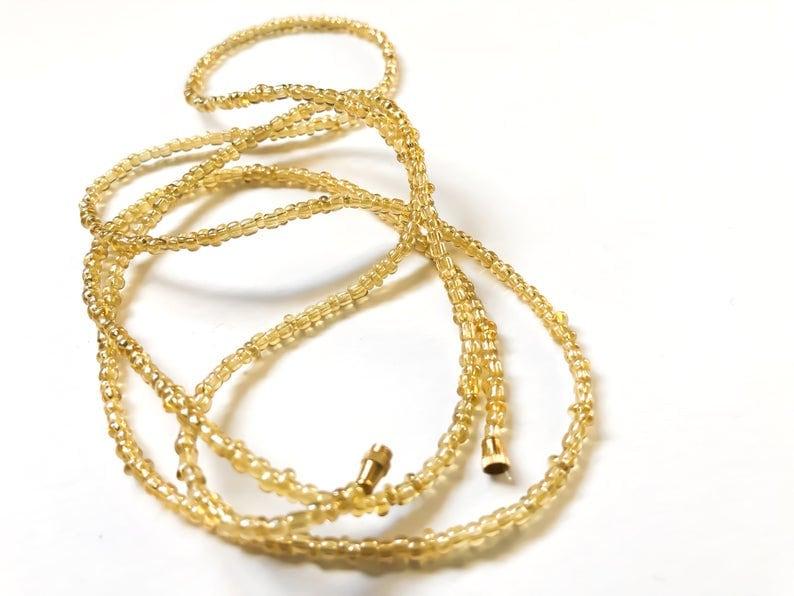 Translucent Ivory Eze Beads African Jewelry Waist Beads Belly Chains Belly Beads Belly Chain Waist Jewelry African Waist Beads