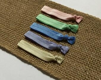 Pastel Hair Tie Set | Elastic Hair Tie | Creaseless Hair Tie | Bulk Hair Ties | Hair Tie Favor | FOE Hair Tie | Hair Tie Bracelet