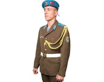 Soviet Army VDV Airborne troopers parade Russian uniform  sc 1 st  Etsy & Halloween clothing Halloween costume Soviet military uniform