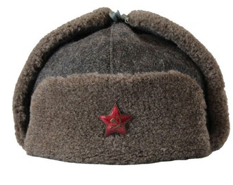 496a437bc30 Old authentic USHANKA Russian Army HAT WWII type
