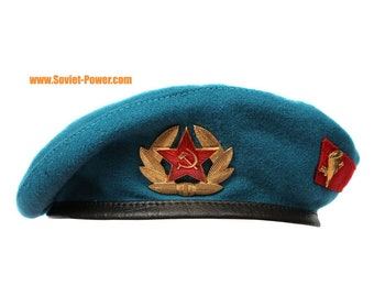 e5564bffade Russian Army VDV Airborne troops blue BERET hat