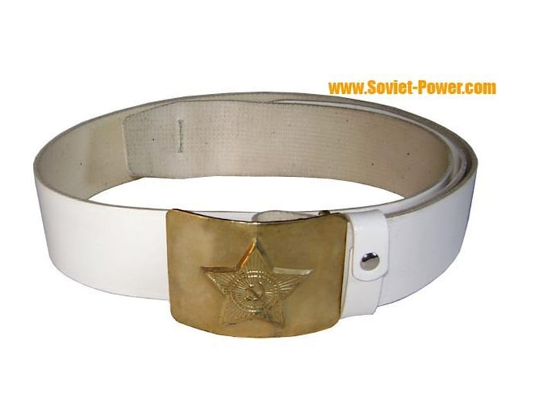WITH THE USSR STAR BUCKLE ORIGINAL SOVIET ARMY MILITARY BLACK BELT FOR SOLDIER