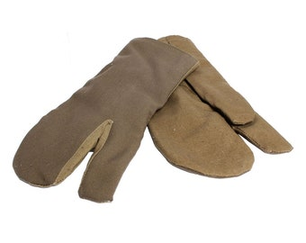 Soviet Army winter gloves / Russian mittens with wool