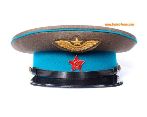 73b7fbad80590 Russian AVIATION VISOR CAP Red Army hat