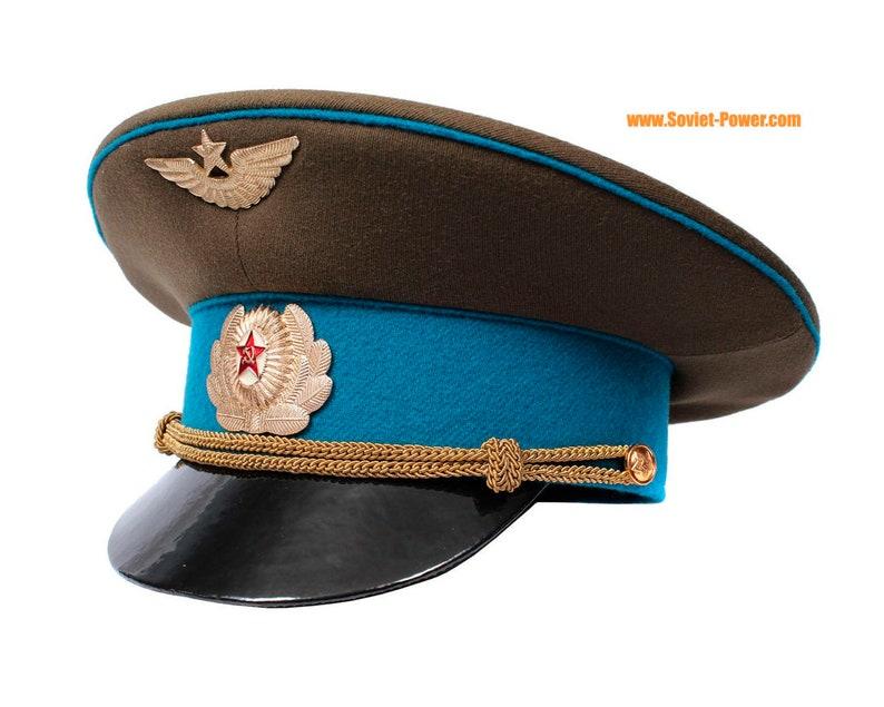 Russian Air Force Officer visor hat GAGARIN Soviet aviation  0add7825baad