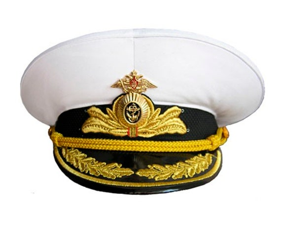 c77de608dde Russian Navy Fleet hat parade Admiral visor cap