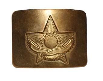 Soviet Army Golden buckle for belt Kazakhstan
